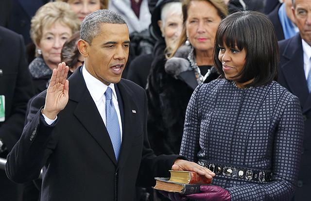 President Obama is sworn in as President of the United States.