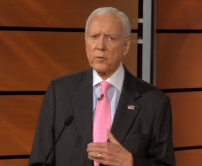 Sen. Orrin Hatch speaks at the National Journal policy summit.