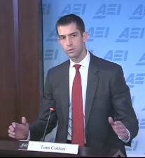 Tom Cotton speaks at AEI.